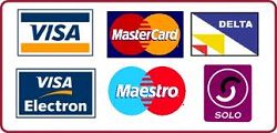 We accept credit card payment